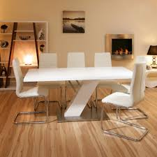 White Modern Dining Room Sets Modern White Dining Room Set G020 With White Chairs Pictures To
