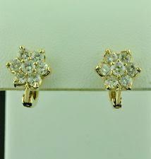 rositas earrings huggie yellow gold 14k si1 diamond earrings ebay