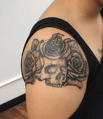 upper arm tattoos for girls 40 arm skull tattoos