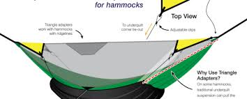 camping hammock underquilt suspension triangle adapters