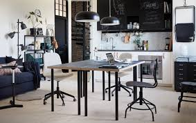 Home Office With Two Desks Office Design Ikea Desk Two Person Desk Diy Home Office For Two