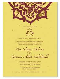 indian wedding invitations indian wedding invitations on seeded paper henna flower by