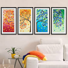 colorful tree diy embroidery counted cross stitch kit handmade