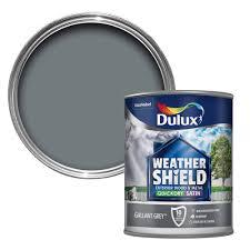 dulux weathershield exterior gallant grey satin wood u0026 metal paint