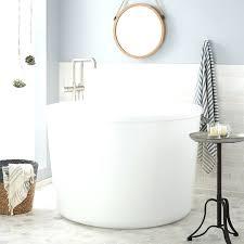 cool right hand side drain white acrylic rectangular soaking
