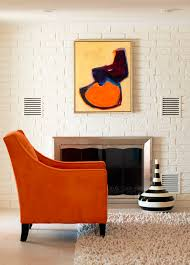 Upholstered Chairs Living Room Orange Upholstered Chair Tobi Fairley Design Simplified Bee