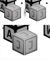 how to create an alphabet blocks text effect in adobe illustrator