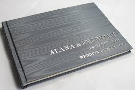 personalized wedding guest book printed guest book saam tv