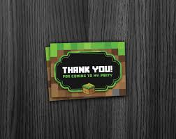 minecraft cards phorest studio minecraft thank you cards