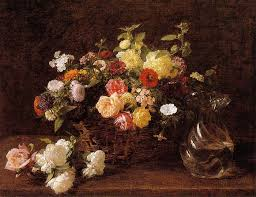 basket of flowers basket of flowers 1892 painting reproduction