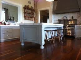 Rustic Wood Kitchen Island by Kitchen Decorating Ideas Using Red Cherry Wood Kitchen Flooring