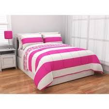 Girls Striped Bedding by Amazon Com Pink White Striped Reversible Girls Teens Twin Xl