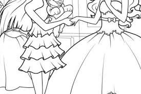 coloriage barbie apprentie princesse dessin de blair et ses amies