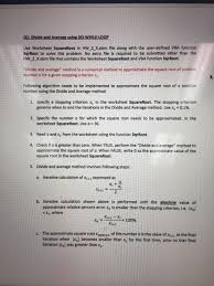 use worksheet squareroot in hw 2 x xlsm file along chegg com