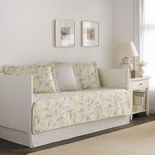 Yellow Sofa Bed Laura Ashley Quilt Joy 5 Piece Daybed Set Gray Yellow Daybed