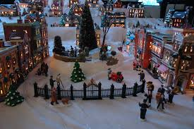 ceramic lighted christmas village set u2013 festival collections