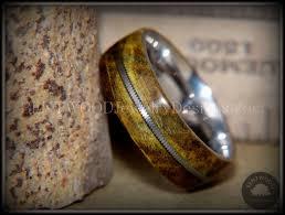 custom metal rings images Bentwood ring box elder stainless steel guitar string bentwood JPG