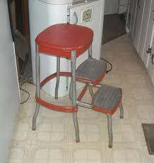 vintage cosco kitchen folding step stool with bo back collectors