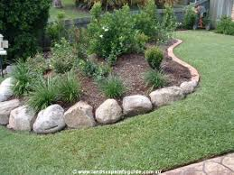 garden rocks edging garden