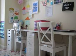 amazing homework desk setup i want to do this with chalkboard