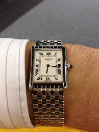 cartier bracelet steel images Cartier cpcp tank lc xl pt on steel link bracelet jpg