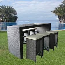 Rattan Bar Table Best 25 Black Rattan Garden Furniture Ideas On Pinterest Small