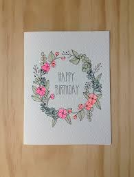 floral wreath birthday card by hartlandbrooklyn on etsy 4 50