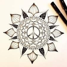 tattoo meaning mandala peace symbol in mandala flower tattoo design