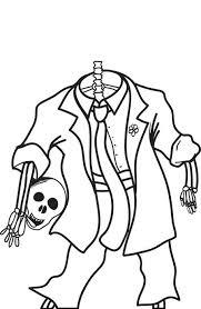 free printable halloween skeleton coloring kids 4