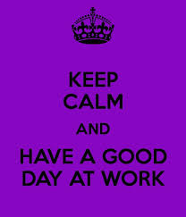 a day at work today will be a great day for the home