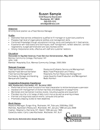 Sample Resume Objectives Fast Food Restaurants by Service Manager Resume Objective Free Resume Example And Writing