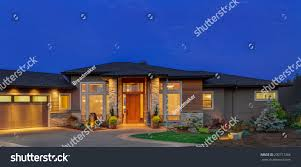 ranch style single story ranch style luxury home stock photo 230717266