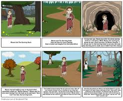 moses and the burning bush part 1 storyboard by laurafleming