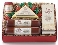hickory farms deluxe signature beef sausage cheese gift basket