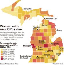 Map Of Michigan With Cities by Michigan Female Cpl Licenses Up 134 248 Shooter