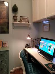 Closet Office Desk A Writer S Walk In Closet Turned Office Unabashedly Bonk