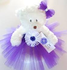flower girl teddy gift princess blue flower tutu teddy gift flower