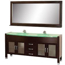 Mirrored Glass Vanity Wyndham Collection Daytona 71 In Vanity In Espresso With Double