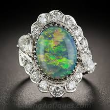 black opal engagement rings black opal platinum and diamond ring