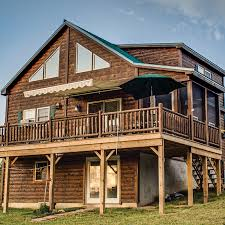 Two Story Log Homes by Legacy Two Story Modular Cabin Riverwood Cabins