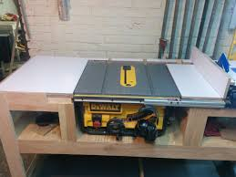 dewalt table saw rip fence extension table saw station album woodworking and bench
