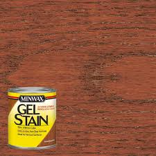 Gel Stain Colors Minwax 1 Qt Mahogany Gel Stain 4 Pack 66050 The Home Depot