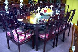 Rosewood Dining Room by Rosewood Oval Dragon Carving Dining Set