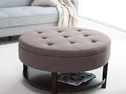 cheap simple leather ottoman coffee table with tray tables coaster