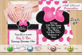 minnie mouse baby shower invitations baby shower invitation minnie mouse brandhawaii co