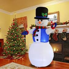 convenience boutique snowman decor lighted