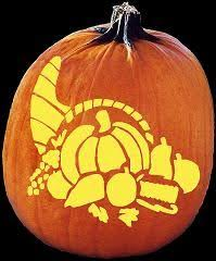 free pumpkin carving patterns and stencils based on thanksgiving