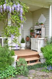 charming summer porch the wisteria looks beautiful hanging down