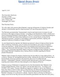 joint letter to secretary kerry u2013 ahmadi voting rights in pakistan