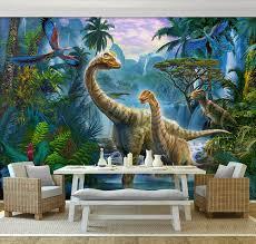 chambre dinosaure décoration murale tapisserie numérique papier peint panoramique